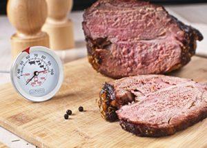 Bratenthermometer kaufen - GOURMEO® Premium Fleischthermometer 2-in-1 (Fleisch und Ofentemperatur) aus Edelstahl / Bratenthermometer / Grillthermometer / Ofenthermometer | mit 2 Jahren Zufriedenheitsgarantie - 6