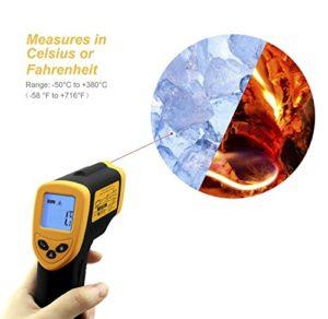 Etekcity Laser Infrarot Thermometer / Pyrometer, -50 bis +380°C - 7