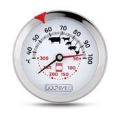 GOURMEO® Premium Fleischthermometer 2-in-1 (Fleisch und Ofentemperatur) aus Edelstahl / Bratenthermometer / Grillthermometer / Ofenthermometer | mit 2 Jahren Zufriedenheitsgarantie - 1