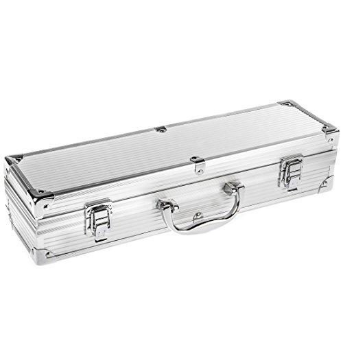 bruzzzler edelstahl grillbesteck set 3 teilig im koffer. Black Bedroom Furniture Sets. Home Design Ideas