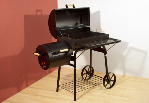 Gas Oder Holzkohlegrill Xl : Smoker bbq grill grillwagen holzkohlegrill kamingrill xl 32 kg