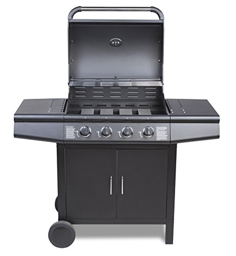taino gasgrill t v bbq grillwagen 4 edelstahl brenner gas grill schwarz. Black Bedroom Furniture Sets. Home Design Ideas