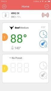 Inkbird Bluetooth 4.0 Barbecue Backofen Grillthermometer BBQ Bratenthermometer Fleisch Küche Thermometer Timer mit Temperaturalarm + Edelstahl Lange Temperaturfühler, App für Android 4.4 + top & iOS 7+ (Inkbird IBT-2X+2 Temperaturfühler) - 7