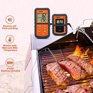 ThermoPro TP08 Barbecue Funk Grillthermometer Set Digitales Bratenthermometer BBQ Thermometer mit 2 Temperaturfühlern für BBQ, Ofen und Grills - 3